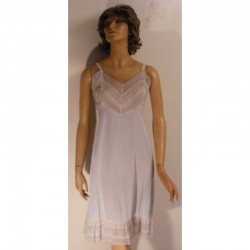 Vintage Full Slip - Blue - Starlight 1950s - 1960s