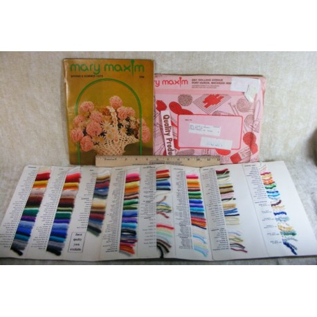 Mary Maxim Catalog and Yarn Card 1970s