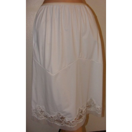 1950's Vanity Fair Half Slip White Nylon w/ Tags