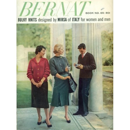 Bernat Knitting Pattern Book 1950s No 65