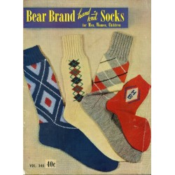 Bear Brand Knitting Pattern Book Socks