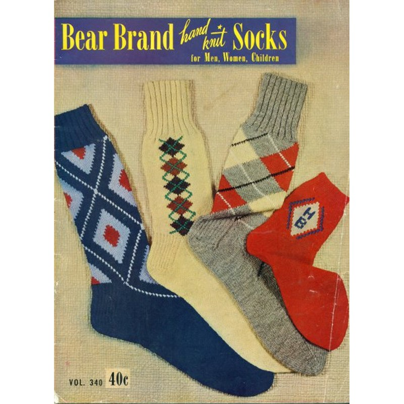 Bear Brand Knitting Pattern Socks