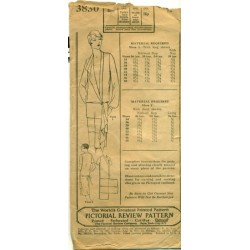 Dress Pattern Drop Waist 3830
