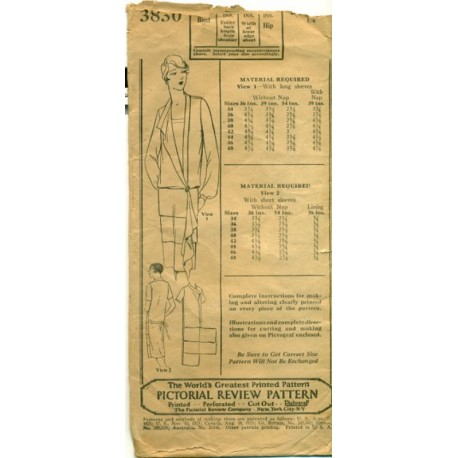 Dress Pattern 1920s Drop Waist Flapper