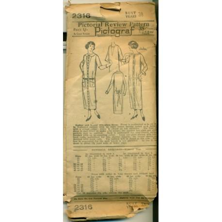 Dress Sewing Pattern Drop Waist Flapper