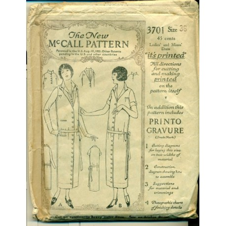 1920s Dress Sewing Pattern Drop Waist