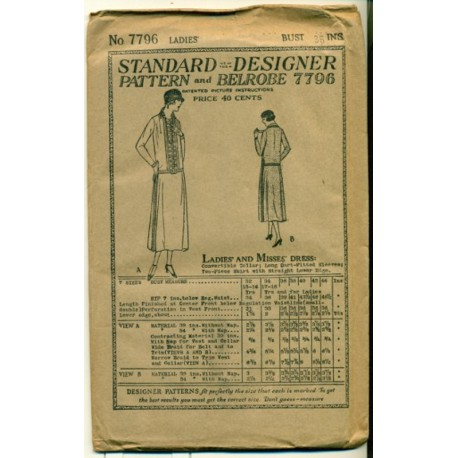 Drop Waist Dress Pattern 1920s Flapper