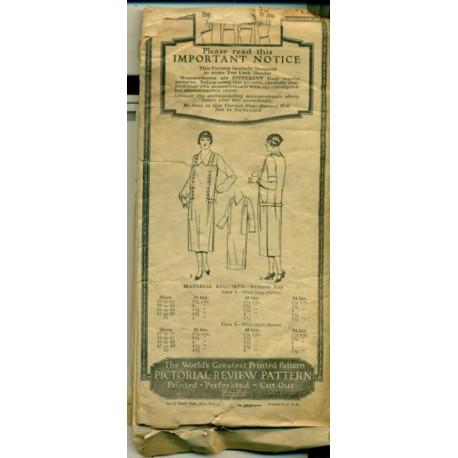 Dress Sewing Pattern Flapper 1920s 2915