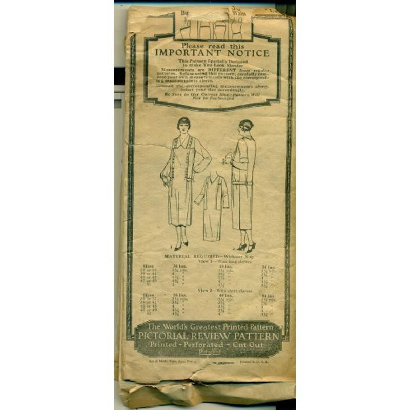 Dress Sewing Pattern Flapper 1920s 2915 Angel Elegance Vintage