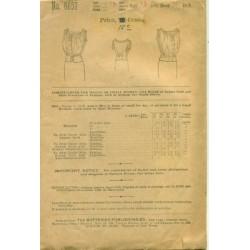 Corset Cover Sewing Pattern 1910s Butterick