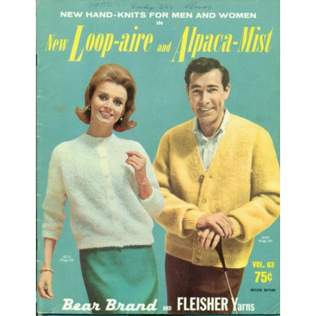 Sweater Knitting Patterns Women Men 1960s