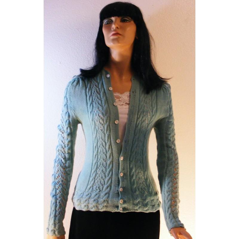 Vintage womens handmade knitted sweater angel elegance vintage