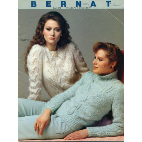 Bernat Knitting Patterns 513 Womens Sweaters
