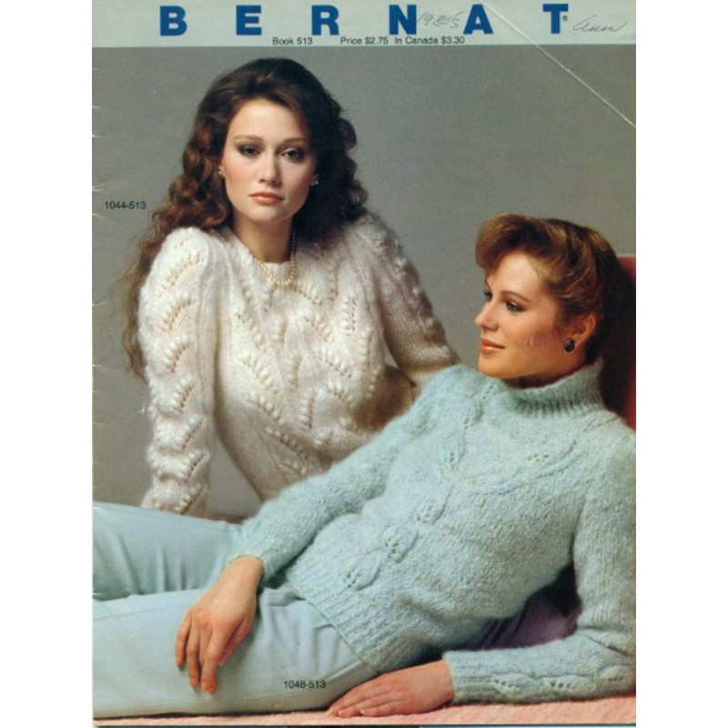 Bernat Knitting Patterns 513 Womens Sweaters Angel Elegance Vintage