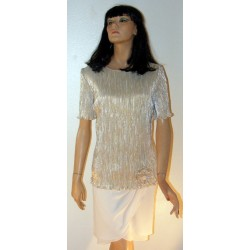 Gold Cocktail Dress - Patra Large Vintage 1980's