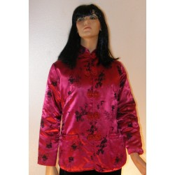 Vintage 80's Heavy Oriental Jacket - Red and Black