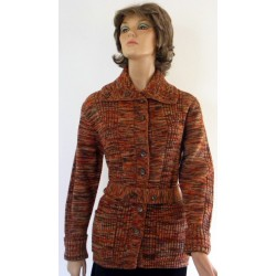 Vintage 1970's Cardigan Sweater with Belt