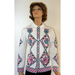 Vintage Polyester Shirt from 60's-70's Big and Bold