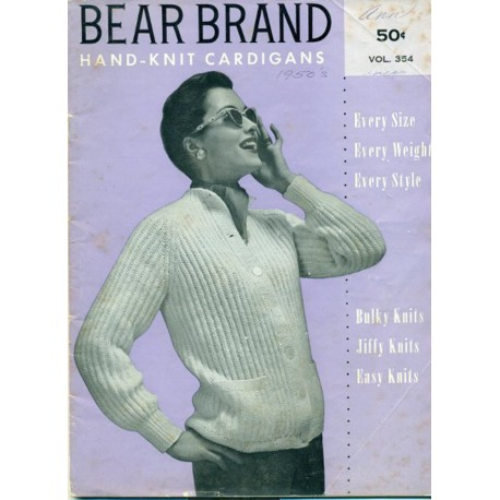 Bear Brand Sweater Knitting Crochet Book