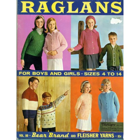 Childrens Knitting Patterns Sweater 1960s