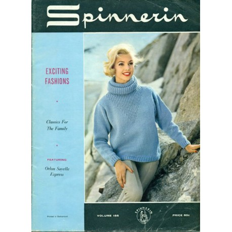 Knitting Patterns Spinnerin No 156 1960s