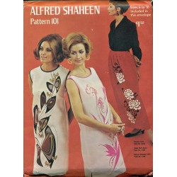 Vintage Alfred Shaheen Sewing Pattern 101 1960's