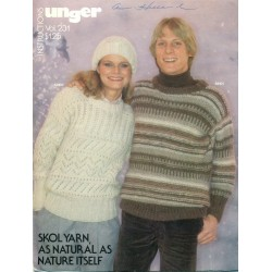Unger Knitting Pattern Book Aran 1970s