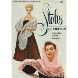 Knitting Crochet Hairpin Lace Pattern Shawl
