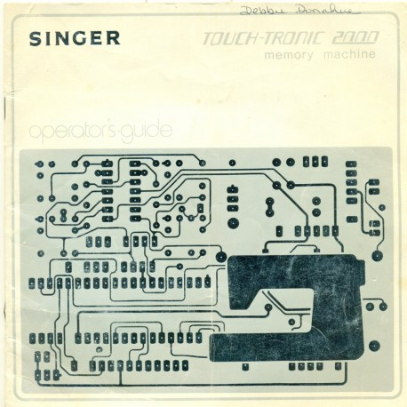 Vtg Singer Sewing Machine Manual - Touch-Tronic 2000