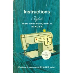 Vint Sewing Machine Manual - Singer Stylist No. 457