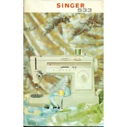 Vintage Singer No. 533 Sewing Machine Manual