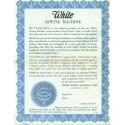 Vintage White Sewing Machine Warranty - Blue