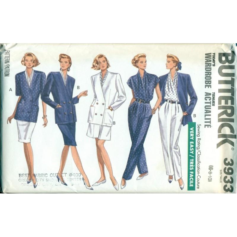Vintage Womens Wardrobe Sewing Pattern - Skirt Jacket Shirt Pants ...