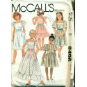 Vintage 1980s Girls Ruffled Dress Sewing Pattern - McCalls No. 8496