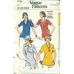 Vintage Vogue Sewing Pattern - Womens T-Shirt