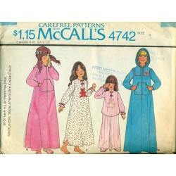 Childrens Pajamas Nightgown & Robe Pattern