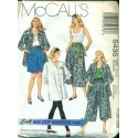 1990's Womens Skirt, Tank Top, Shirt & Leggings Sewing Pattern - McCalls No. 5435