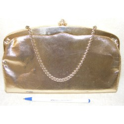 Vintage Gold PURSE Clutch and Chain Handle - Handbag Evening