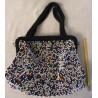 Vintage Bead Purse - Multicolor Honeycomb Handbag