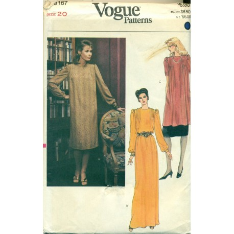 Vintage Vogue Sewing Pattern - Womens Dress, Tunic and Skirt