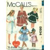 Vintage Girls Ribbon Dress Sewing Pattern - McCall's No. 8634