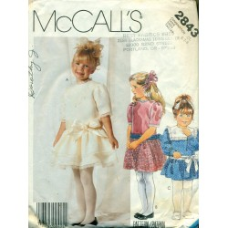 Little Girls Party Dress Vintage Sewing Pattern - McCall's No. 2843