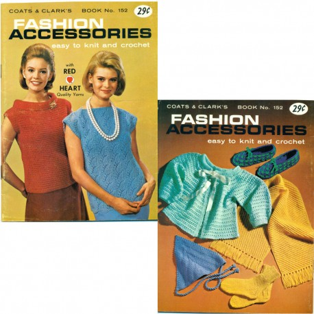 Knit Crochet Patterns Book Accessories 1960s