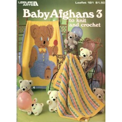 Baby Afghan Knitting Crochet Pattern Book