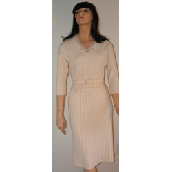 Sweater & Skirt Dress Set Chenille Wool