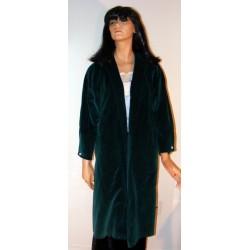 1950s Vintage Velvet Swing Coat w/ Rhinestones - Green