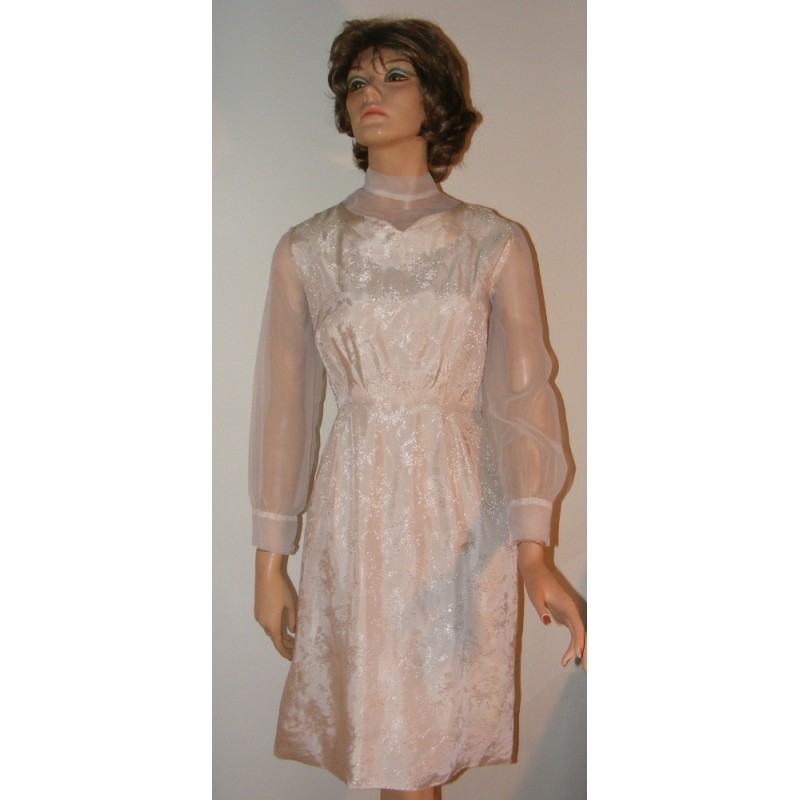Short Semi Formal Dress Vintage 1960s Angel Elegance Vintage