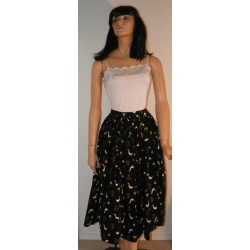 Full Gathered Skirt Funky Chicken 1950s
