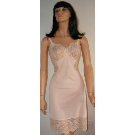 Vintage 1960s Gossard Artemis Beige Full Slip - Large