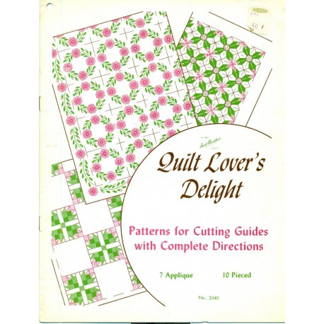 Vintage Aunt Martha's Quilting Patterns - Applique and Pieced